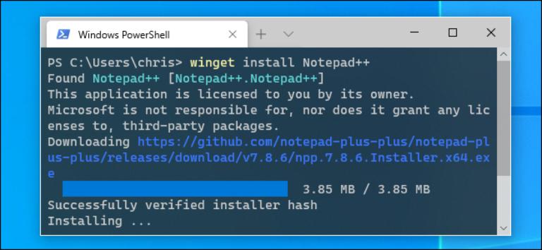 Как использовать менеджер пакетов Windows 10, «winget»