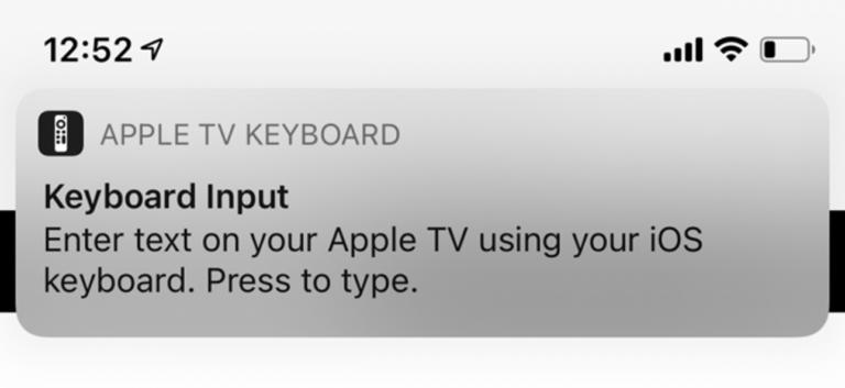 Как отключить уведомление с клавиатуры Apple TV на iPhone и iPad