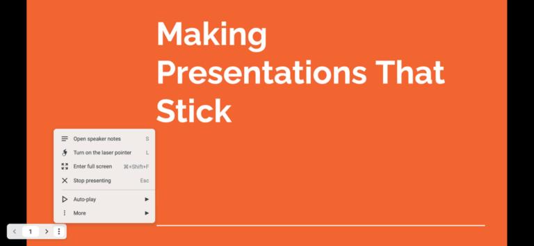Как использовать панель инструментов Google Slides Presenter