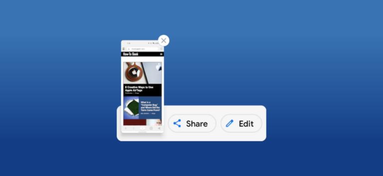 Как редактировать скриншоты на Android