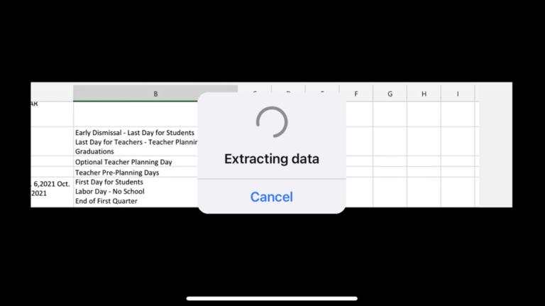 Как вставить данные из изображения в Microsoft Excel на мобильном устройстве