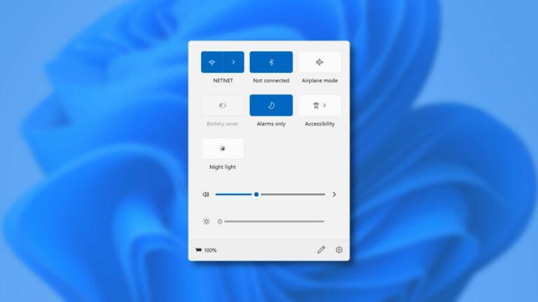 Как работает новое меню «быстрых настроек» в Windows 11