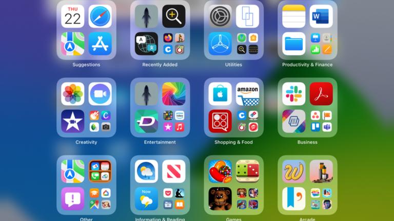 Как использовать библиотеку приложений на iPad
