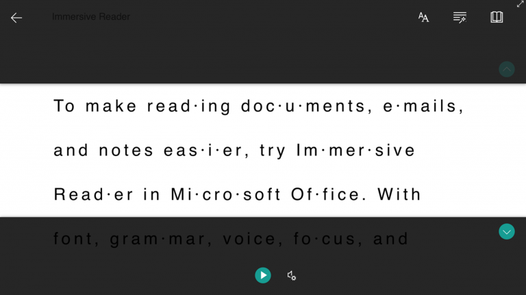 Как использовать иммерсивное средство чтения в Microsoft Word, Outlook и OneNote