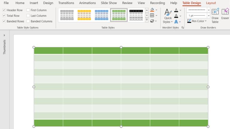 Как вставить и отформатировать таблицу в Microsoft PowerPoint