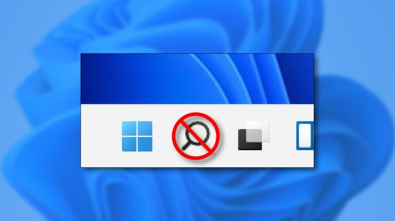 Как скрыть кнопку поиска на панели задач в Windows 11