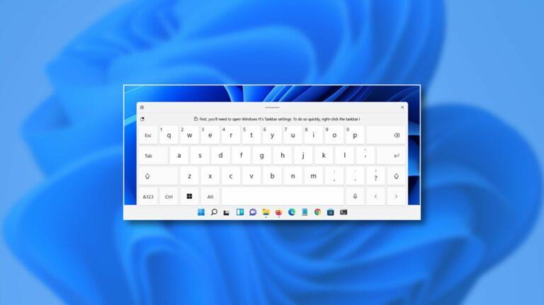 Как включить сенсорную клавиатуру в Windows 11