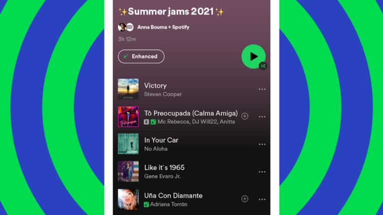 Что делает кнопка «Enhance» Spotify и как ее использовать?