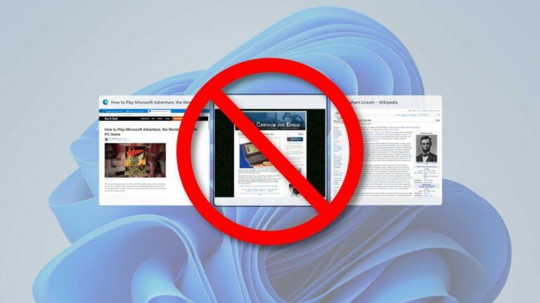 Как запретить Windows 11 отображать крайние вкладки в Alt + Tab