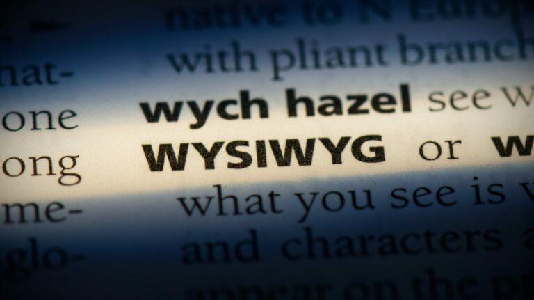 Что такое редактор WYSIWYG?